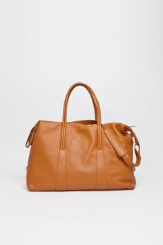 Travelling Bag Leather Brown via Maison Martin Margiela