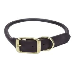 "Circle T Latigo Leather Round Dog Collar 1"" x 22"""