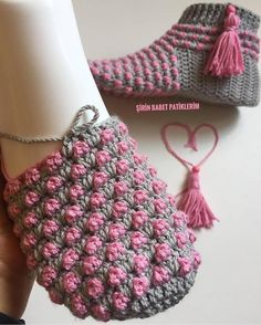 Best 12 The most special of is n Diyippp is now … – SkillOfKing. Tunisian Crochet, Free Crochet, Knit Crochet, Crochet Hats, Crochet Slipper Pattern, Afghan Crochet Patterns, Knitting Patterns, Crochet Baby Boots, Crochet Slippers
