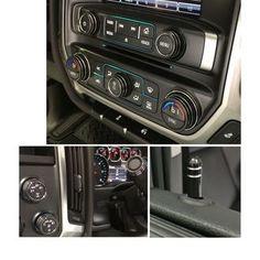 Silverado/Sierra Billet Interior Knob Kit - Tungsten