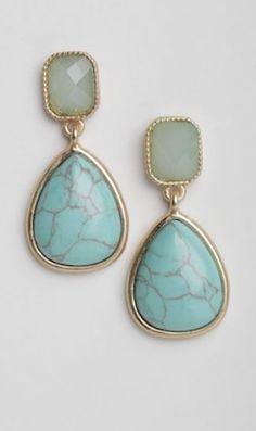 rustic turquoise teardrop earrings http://rstyle.me/n/mffxdr9te