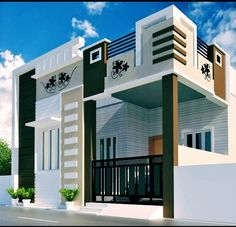 Building Elevation, House Elevation, Front Elevation, 20x40 House Plans, Simple House Design, Grill Design, House Architecture, House Front, Architects