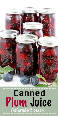 There are a huge variety of juices in the grocery stores, but nothing beats the taste of a freshly opened home canned juice. All you need is to dilute with water to your preferred sweetness, add some canned plums into your glass of juice and enjoy! Oh, ho Easy Summer Desserts, Healthy Summer Recipes, Healthy Drinks, Plum Juice, Canned Juice, Yummy Food, Delicious Recipes, Frugal Meals, Meals