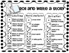 "FREE - Students LOVE the roll and write activity for Work on Writing. Here is a great one to laminate and add to your writing station or workshop! // read ""More Bears"" as an introduction to writing your own story Work On Writing, Writing Workshop, Writing Binder, Start Writing, Writing Lessons, Teaching Writing, Writing Games, Writing Topics, Writing Prompts For Kids"