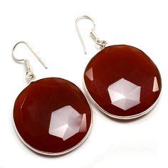 Silvestoo India Red Onyx Gemstone 925 Sterling Silver Earring PG-100790   https://www.amazon.co.uk/dp/B06XXJ5G6D