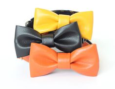 Funky Faux Leather Bowtie UsagiTeam bow tie collar by usagiteam