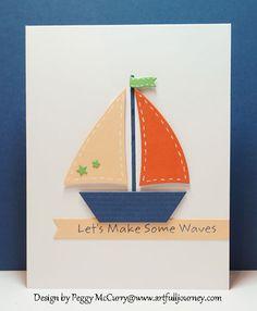 card nautical MFT die-namics sailboat - Artfull Journey #mftstamps