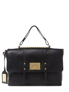 Amelia Leather Convertible Satchel by Badgley Mischka at Gilt