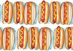 Ik had het idee om hot dogs te tekenen dus ik had gebruik gemaakt van dit foto
