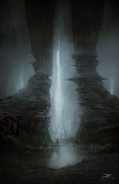 Virtual Museum, best of contemporary visual art, page 66 Fantasy Concept Art, Dark Fantasy Art, Fantasy Artwork, Dark Art, Fantasy City, Fantasy Places, Fantasy World, Fantasy Art Landscapes, Fantasy Landscape