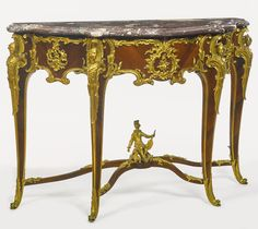 date unspecified François Linke  French, 1855 - 1946  A Louis XV style gilt bronze mounted kingwood console  Paris, late 19th century, index number 153  Estimate  30,000 — 50,000  USD  LOT SOLD. 68,750 USD (Hammer Price with Buyer's Premium)