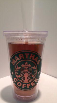 Starbucks Inspired Personalized Tumbler on Etsy, $12.00