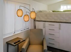 Architect's big idea: Tiny, $11,000 house - cool lamp, but no info on where it's from Tiny House Swoon, Modern Tiny House, Tiny House Living, Tiny House Design, Building A Tiny House, Tiny House Plans, Tiny House On Wheels, Tiny House Movement, Microhouse
