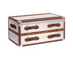 Декоративный чемодан-тумба для хранения Pop Miracle — это очаровательный предмет украшения вашего дома, который непременно добавит ему уюта, изысканности и неповторимости. Особенностью аксессуара является то, что изготовлен он из нержавеющей стали, имеет коричневую окантовку, декорированную заклепками и широкие удобные ручки. Чемодан, благодаря размерам, является достаточно вместительным, а его поверхность можно использовать как подставку или тумбу.             Метки: Журнальный стол…
