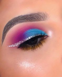 These 35 colorful eye makeup ideas will Make you eye pop - makeup look - Hair and Beauty eye makeup Ideas To Try - Nail Art Design Ideas Makeup Inspo, Makeup Inspiration, Beauty Makeup, Makeup Ideas, Makeup Tutorials, Makeup Art, Makeup Tips, Beauty Tips, Blusher Makeup
