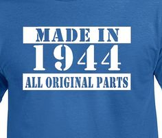Made In 1944 Vintage 70th Birthday Gift Present by DesignDepot123