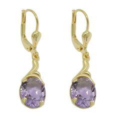 earrings real amethyst 8k gold