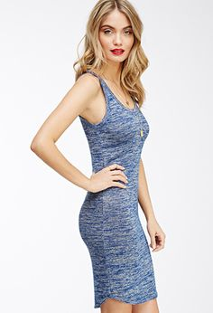 Marled Knit Bodycon Dress | Forever 21 - 2049259006