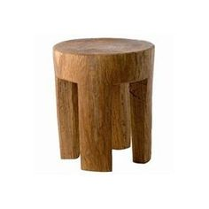 log footstool