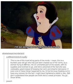 all the Disney princesses are amazing, strong ladies, and I will fight you if you say otherwise. love, Jamie.