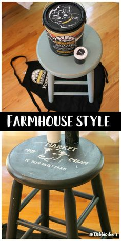 How to update a thrift store stool with farmhouse style