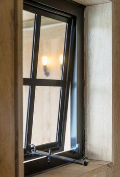 Steel Frame Doors, Steel Doors And Windows, Metal Windows, Industrial Windows, House Window Design, Door Design, Barn Windows, Black Window Frames, Window Grill