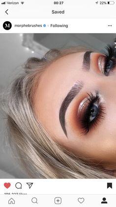 for eye makeup makeup 2019 simple makeup looks natural makeup eyeshadow makeup types makeup eye shape makeup material name makeup pads Makeup Eye Looks, Cute Makeup, Glam Makeup, Gorgeous Makeup, Pretty Makeup, Skin Makeup, Makeup Inspo, Makeup Inspiration, Fall Eyeshadow Looks
