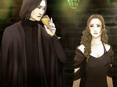 Chasing the Sun: Black Moods (Snape and Hermione) artwork by arriku