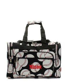 "Personalized Baseball 17"" Kids Duffle Bag"