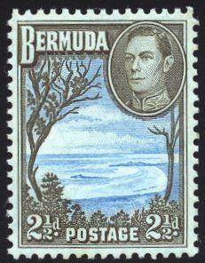 King George VI Bermuda 1938 Postage Stamp Design, Crown Colony, British Indian Ocean Territory, Pitcairn Islands, Canada, Vintage Stamps, King George, My Stamp, Stamp Collecting