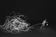 """Gilbert Garcin's """"Diogène ou la Lucidité - (Diogenes of Lucidity)"""" photograph is available for sale at HL Photograph Gallery. Find more French surrealist photography here. Collage Sculpture, Surreal Collage, Gilbert Garcin, Bühnen Design, Atelier Photo, Photo Corners, Conceptual Photography, Surrealism Photography, Human Condition"""