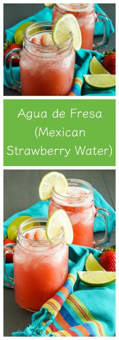 """Happy Cinco de Mayo! Celebrate with some refreshing Agua Fresca (""""fresh water"""" in Spanish). Aguas Frescas are a group of flavored drinks popular throughout North America. Flavorings inc…"""