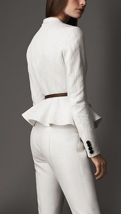 Fitted Peplum Detail Jacket | Burberry