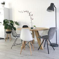 Interior Garden, Interior Exterior, Interior Design, Dining Room Inspiration, Home Decor Inspiration, Home And Living, Living Room, Kitchen Dining Living, Apartment Makeover