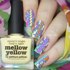 REVERSE STAMPING features 'Mellow Yellow, Dream, Citrus + Chillax' nails by @nina_d83 ❤️❤️️️️thank Nina :) Stamping Plate from @emilydemolly # 11 ⭐️That Remover + Those Wipes + MoYou London + Liquid Palisade + NailVinyls + Nail Butter + Creative Shop BIG Stamper all available via PP link in bio⭐️ #aussienails #picturepolish #polish #lovemanicure #nail #nails #nailpolish #polishaddict #vernis #lacquer #lovenails #enamel #npa #nailart #nailporn #nailswag #nailaddict #nailartwow #naildesign…