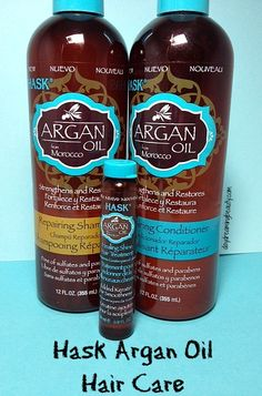 Hask Argan oil #crueltyfree sulfate free shampoo and conditioner daydreamingbeauty.com
