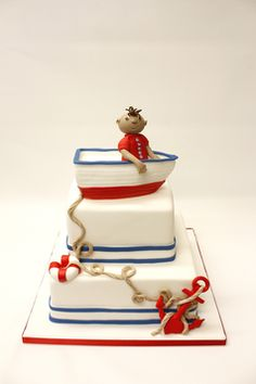 Boat cake, Boys Cake! Beautiful cake by Lulu Scarsdale www.everythinglulu.com