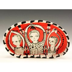 red - plate - Jenny Mendes - figures