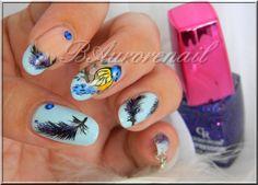 nail art plume