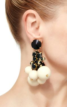These **Marni** drop earrings feature a clustered design with stones and spheres in various sizes.