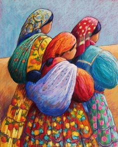 Tarahumara Women Canvas Print / Canvas Art by Candy Mayer Mexican Paintings, Afrique Art, Art Africain, Arte Popular, Naive Art, Mexican Folk Art, Native American Art, Indian Art, Female Art