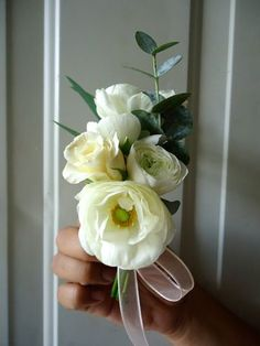 CBP126 Riviera Maya Weddings white  pin corsage  / Bodas Riviera Maya corsage blanco
