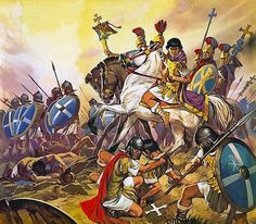 """La Pintura y la Guerra """"The Emperor Constantine in battle""""  Angus McBride"""