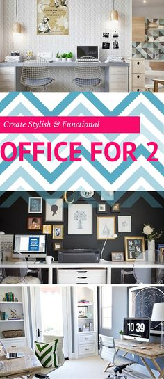 Home Office // 22 Easy Tips to Create an Office for Two