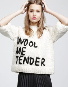 DIY knit typography