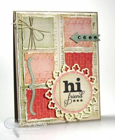 ISSC32 - Hi Friend by Coconutmuffn - Cards and Paper Crafts at Splitcoaststampers