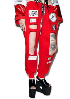 W.I.A X Dolls Kill Hole Sweatpants