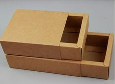 20ps size 18106CM Brown Drawer Cardboard Boxes by giftpackages