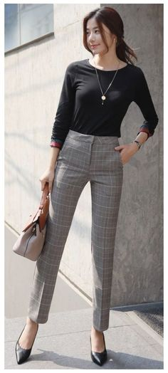 Smart Casual Work Outfit Women, Semi Formal Outfits For Women, Classy Work Outfits, Casual Look, Work Casual, Casual Outfits, Office Outfits, Outfit Work, Outfit Chic