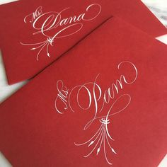 Valentine cards for two of the most wonderful KDO teachers ever! Flourish Calligraphy, Wedding Calligraphy, Arte Quilling, Wedding Verses, Wedding Letters, Penmanship, Hand Lettering, Lettering Ideas, Letter Art